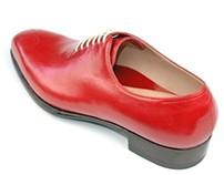 Red custom shoe