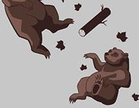 Falling bears