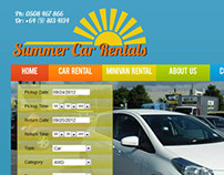 Web Design - Summer Car Rental