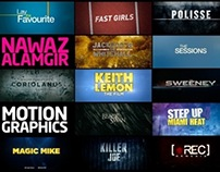 Nawaz Alamgir | 2012 Motion Graphics Reel (Film Titles)