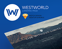 Westworld Landing Page Desktop & Mobile Site