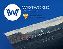 Westworld Landing Page Desktop & Mobile Site