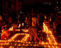 Earthquake Anniversary Candles, Kathmandu, Nepal