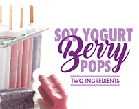 Soy Connection | Soy Yogurt Berry Pops Recipe Ad