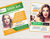 Slim art clinic flyers