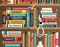 PBS The Great American Read - Bookshelf Banner