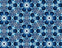 Tie dye Blue Kaleidoscope
