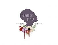 Logo Design for Madeup by Devika - Makeup & SFX Artist