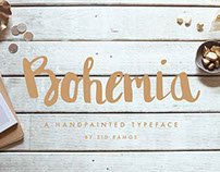 Bohemia Brush Font (A handpainted typeface)