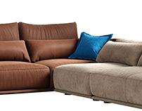 Cierre Clift Sofa sectional sofa 3d model