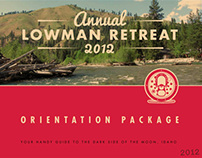 Annual Lowman Retreat, 2012 —Orientation Package Design