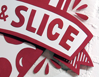 Pint & Slice Logo, Sign