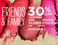 Friends + Family Sale campaign