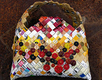 """Recycled Dog Food Bag: """"Candy"""""""