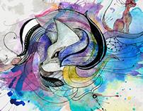 Colores, lineas, explosiones y curvas