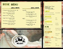 Menu and Logo Design - UGLY DELIGHT