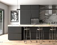 Cozinha Black & White