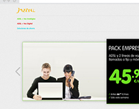 Jazztel Empresas — Website