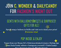 C. Wonder's Fashion's Night Out E-Blast