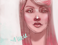 Pink & Mint Girly Portrait