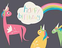 Happy Unicorn Rainbow Birthday