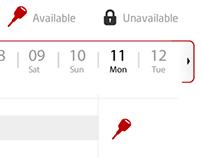 Booking Calendar Web App