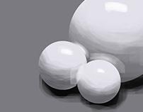 Sphere Light Study Digital Painting