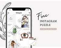 Fine Instagram Puzzle Template