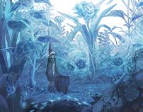 The blue fairy garden