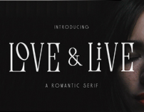 Love & Live - A Romantic Serif