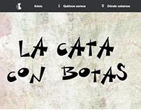 Tarjetas y Web La Cata con Botas