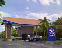 Crystal Lake security cabin facade