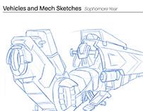 Sophomore Sketchbook - Vehicles and Mechs