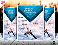Dance Competition PSD Flyer Template Free Download