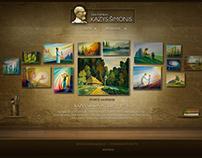Kazys Šimonis - website design