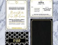 Gatsby-Inspired Wedding Invitation Suite