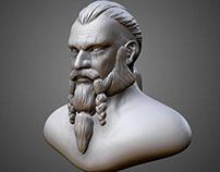 Viking bust