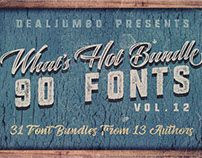 What's Hot Bundle vol.12 – 90 Fonts