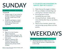 TP Church SOUTHLAKE brochure redesign