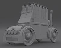 Steampunk Carriage Car