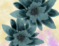 acrylic floral illustration