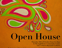 Poster for The Pacific Center's Open House Event