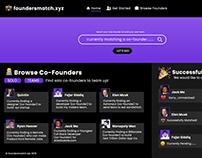 Founders Match 2019 - Web-Design Mock Up