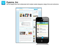 Eyeona - Web and Mobile UX Design