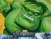 Marvel Avengers Sketch Cards for Upper Deck