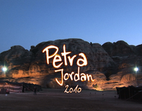 Projection in Petra, Jordan