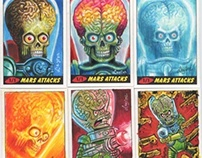Mars Attacks Sketch Cards for Topps