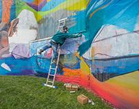 Arte urbano en las alturas