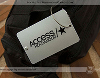 Aluminum Luggage Tags for Access Hollywood