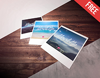 Free Polaroid Photo Mock-up in PSD